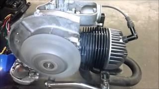 Probelauf Vespa PX 80 Motor Nr 19020