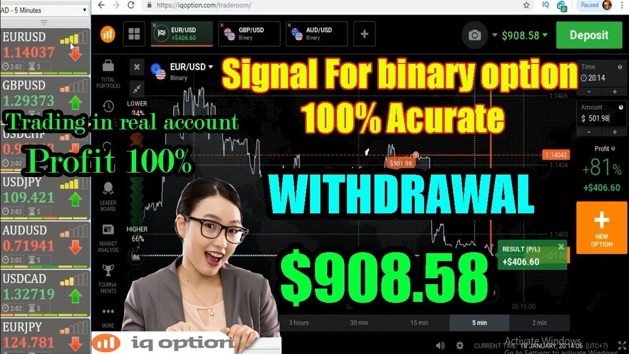 Signal For binary option 100% Acurate | Trading in Real Account | iq option  strategy 2019