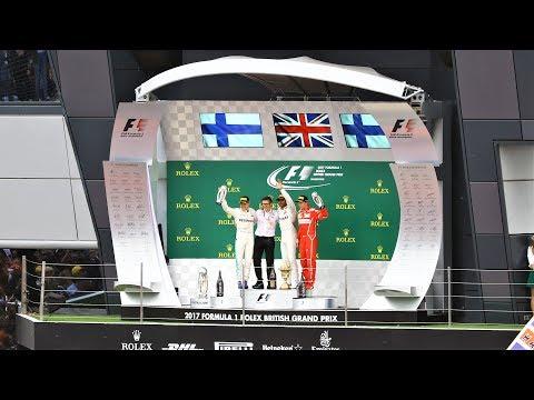 2017 British GP Podium - Winner Hamilton Interviewed By Lightning McQueen