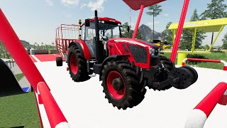Sky high farming - Tractors, vehicles and agricultural machinery on colorful platforms | Farm Work