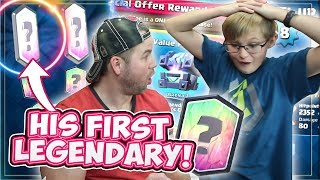 MY SON UNLOCKS HIS FIRST LEGENDARY! HE GOES NUTS!