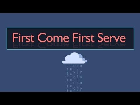 شرح مادة نظم التشغيل first come first serve scheduling algorithm