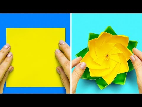 13 EASY PAPER CRAFTS AND ORIGAMI IDEAS