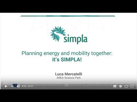 Harmonizing Energy and Mobility Planning: the Simpla Approach - Luca Mercatelli (Area Science Park)