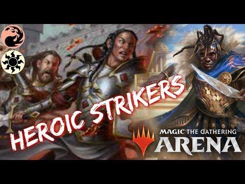 Heroic STRIKERS MTG Arena  RedWhite Kwende First Strikers Deck in M19 Standard