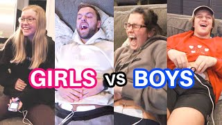 BOYS vs GIRLS PERIOD PAIN SIMULATOR!