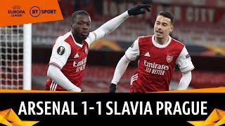Arsenal vs Slavia Prague (1-1) | Gunners Hit By Stoppage Time Equaliser | Europa League Highlights