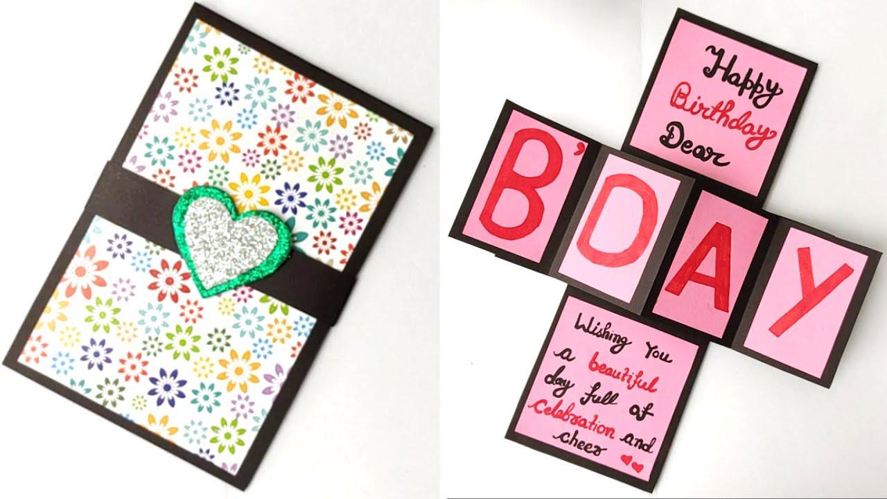 DIY - Birthday Card   Pop-Up Birthday Card   Special Birthday Card   Easy bday card idea