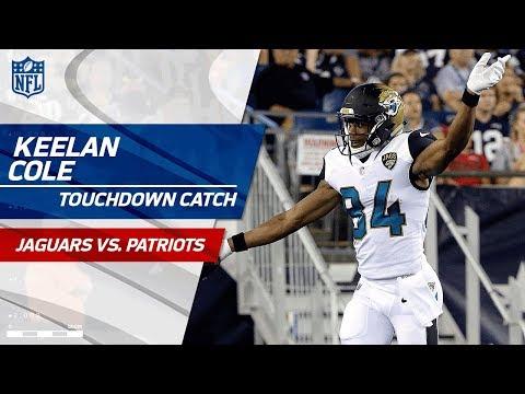 Keelan Cole Hauls in 97-Yard TD Catch! | Jaguars vs. Patriots (Preseason) | NFL