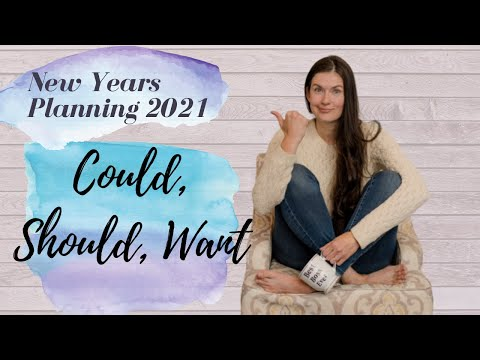 New Year's Goals and Life Planning Video 10 - Could, Should, Want