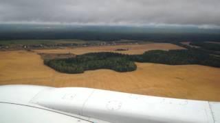 небо беларуси, посадка в аэропорт Минск 2.(Посадка самолета, в дождливую погоду., 2016-01-10T11:57:23.000Z)