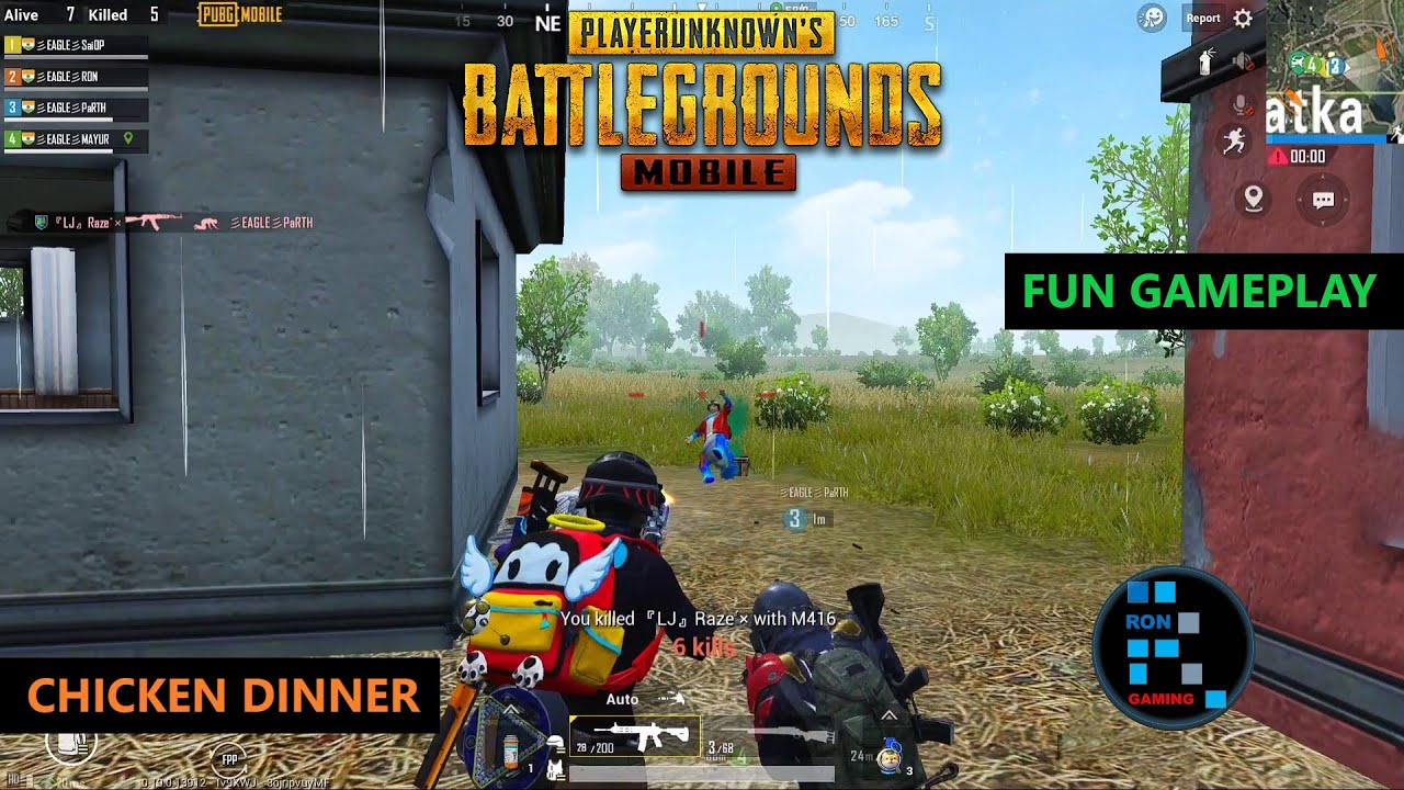 PUBG MOBILE | FUN GAMEPLAY WITH AMAZING CHICKEN DINNER OLD RECORDING