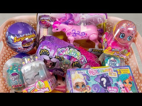 Unicorn Surprise Toy Eggs Basket Little Live Pets Shopkins Toys for Girls Kinder Playtime