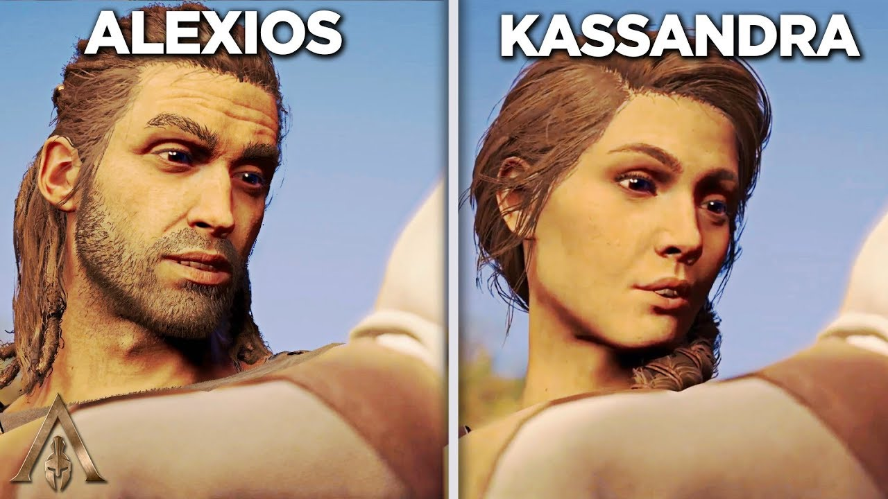 Alexios Vs Kassadra S Baby Comparison Assassin S Creed Odyssey