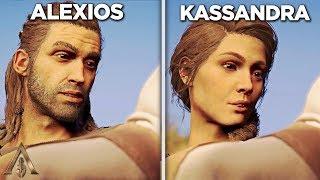 Alexios vs Kassadra's Baby (Comparison) - Assassin's Creed Odyssey