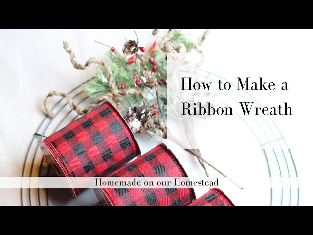 DIY Craft Project | HOW TO MAKE A RIBBON WREATH | Simple holiday decor | Quick and Easy Craft