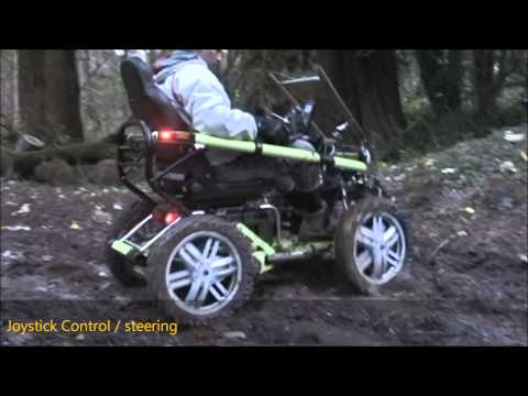 Terrain Hopper: Mobility Scooter With Joy Stick Steering, Forest Terrain Tackled Easy