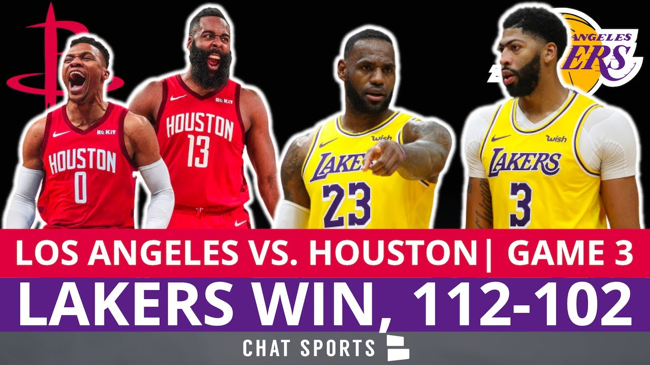 Lakers Win Game 3 Vs Rockets Lebron James Anthony Davis Dominate Recap Stats Live Reaction Youtube