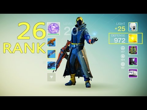 Destiny LEVEL 26 Ranking Up | Destiny Leveling Up For Raid