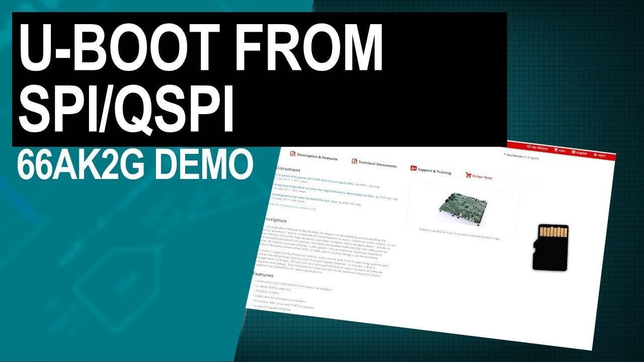 Demonstrating U-Boot from SPI/QSPI for 66AK2G