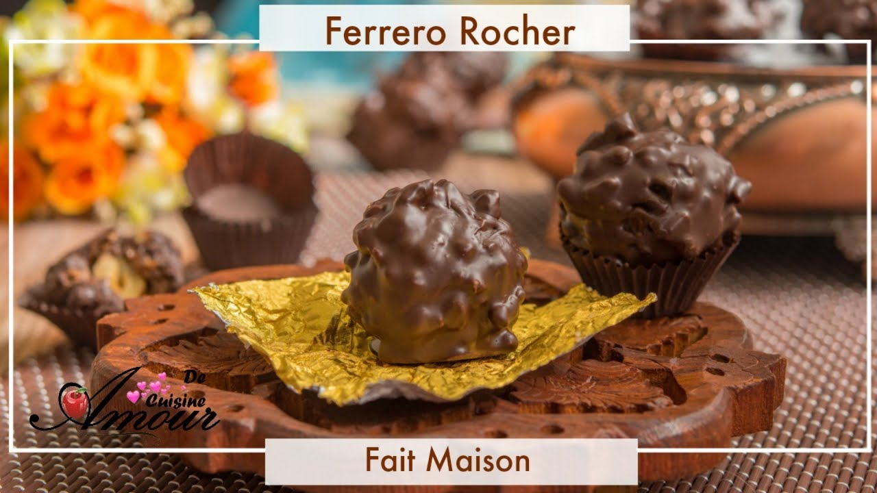 la recette des Ferrero Rocher fait maison facile et rapide