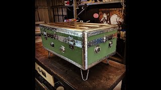 Vintage Military Trunk Restoration - Forme Industrious