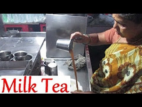 Indian Milk Tea in Marina Beach   Indian Street Food Chennai   Street Food India