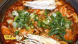Korean Spicy Pork Stew / Korean Street Food / Sky Garden, Changwon Korea