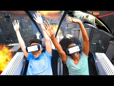 """The New Revolution"" Six Flags Virtual Reality Roller Coaster NEW FOR 2016 Samsung Gear VR On-Ride"