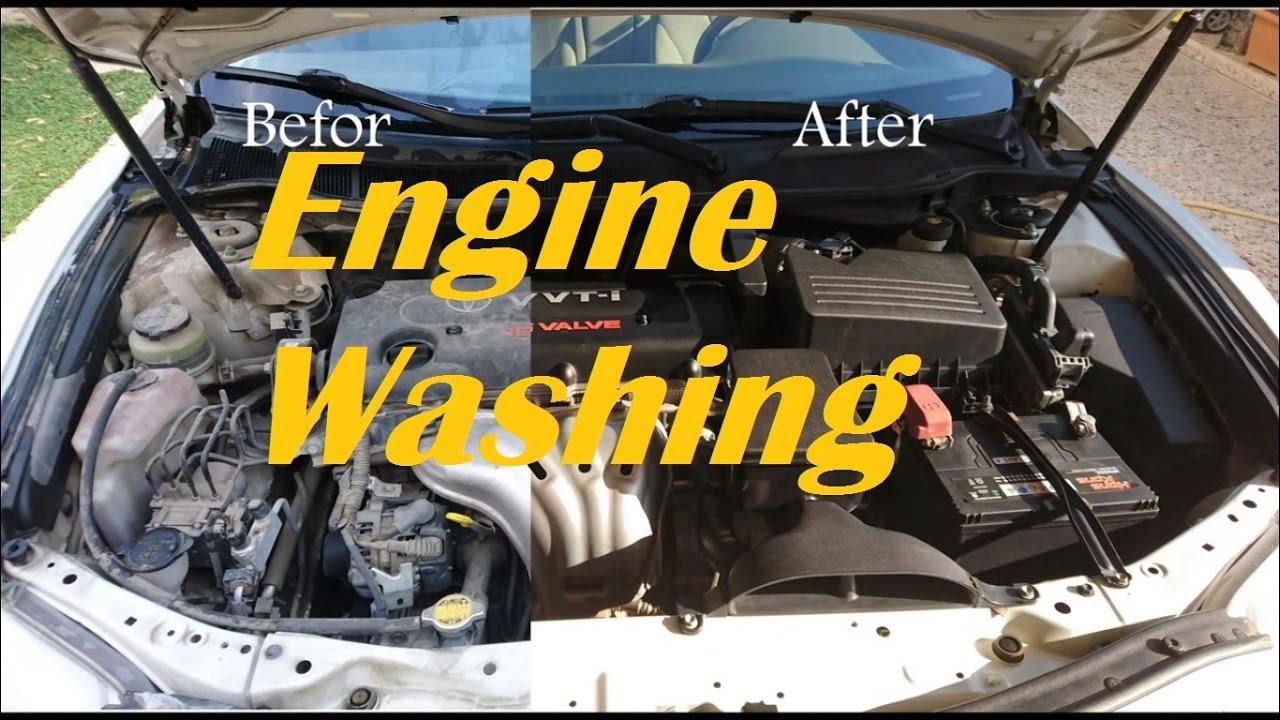 Toyota Camry Engine Washing