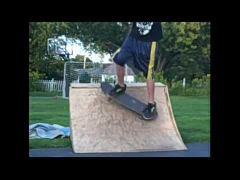 Homemade Quarterpipe Session
