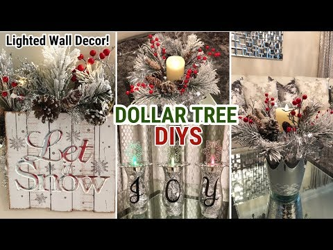Dollar Tree Christmas DIY | Winter Glam Decor