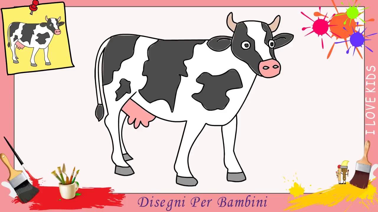 Come disegnare una mucca facile passo per passo per for Coniglio disegno per bambini