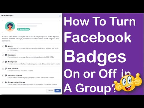 🥇🏅 How to Turn Facebook Badges On or Off in A Group? [Urdu/Hindi]