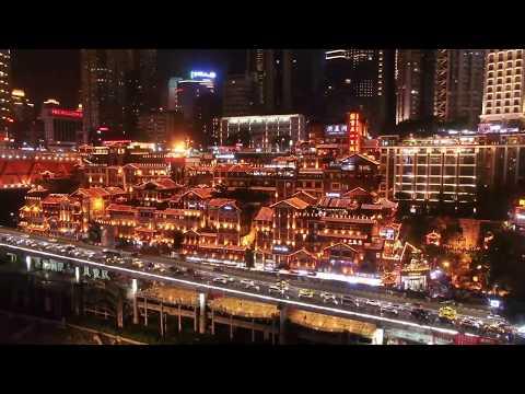Chongqing SKYLINE China, CHONG QING Time lapse Aerial photography  AERIAL CHINA