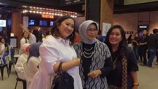 Nobar film Dilan 1990 Surabaya Part 2 bersama Soraya Hylmi dan Sutradara Fajar Bustomi