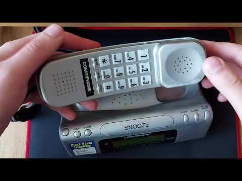 Conairphone Model TCR200 Alarm Clock Radio Telephone Cleaning