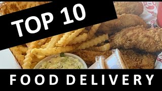 TOP 10 FOOD DELIVERY PLACES DURING THE CORONAVIRUS PANDEMIC! GRUB HUB DOOR DASH  UBEREATS COVID-19