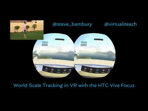 World Scale Tracking test with the Vive Focus