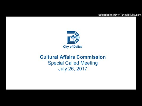 Cultural Affairs Commission Special Called Meeting - July 26, 2017