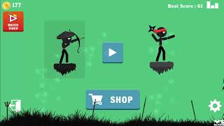 Stickman Ninja Archer Fight | Stick Archer Arrow Game - Android GamePlay HD