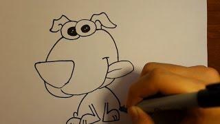 Wie zeichnet man Einen Cartoon-Hund| Niedlichen Welpen|Como dibujar un perro paso a paso 3