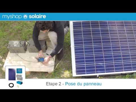 MyShop Solaire - Montage d'un kit panneau solaire 250W autonome (24V) + convertisseur 230V