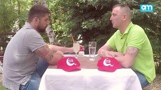 Nikola Rađen i Dača Ikodinović  čašica razgovora