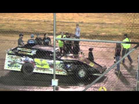 Ark La Tex speedway Dustin Hyde interview in victory lane 9/26/15
