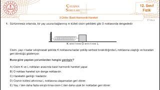 12.Sınıf MEB Fizik 3.Tekrar Testi Çözümü ( 2.Ünite Basit Harmonik Hareket ) +PDF [2020]