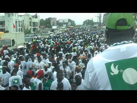 Liberty Party Campaing Launch overwhelms Monrovia, as thousands trooped to Party Headquarters