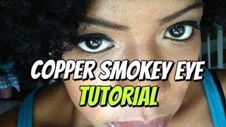 beauty  copper smokey eye tutorial for beginners