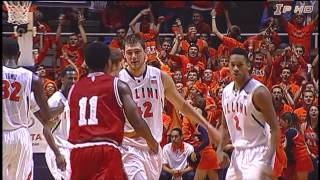 Illinois Basketball Highlights vs. #1 Indiana 2/7/13