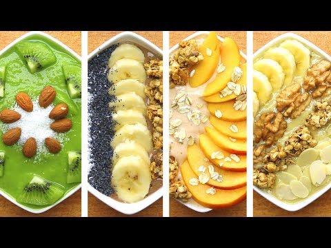 Super 4 Healthy Smoothie Bowl Recipes